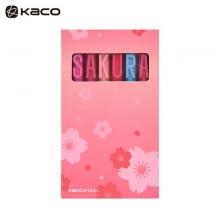 KACO 字母签字笔0.5mm 黑芯中性笔 SAKURA樱花套装 盒