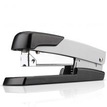 得力(deli) 轻便型厚层订书机/订书器 金属材质可钉50页 银色0416
