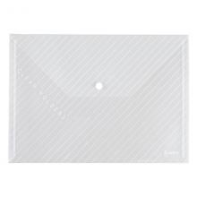 齐心 C330 办公必备透明按扣袋 A4 10个/包 白色  单个