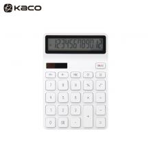 KACO乐迈计算器 12位简约大按键双电源计算器 白色