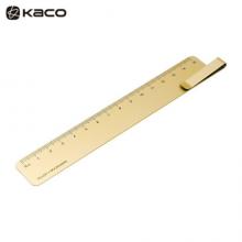 KACO RUMA书签尺15cm 刻度尺书签夹子 金色