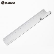 KACO RUMA书签尺15cm 刻度尺 书签夹子 银色