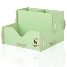 得力 9124彩色木质组合拼装 笔筒 收纳盒 DIY笔筒 收纳架