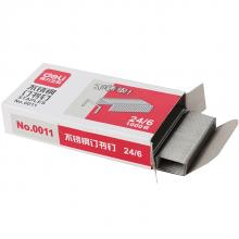得力 0011 不锈钢订书钉12号钉书针 24/6 1000枚/盒 1盒装