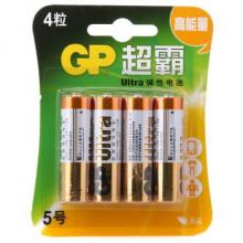 超霸(GP)  碱性电池 5号 4粒/卡