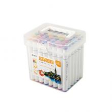 晨光(M&G)文具48色快干双头马克笔 纤维头学生重点标记记号笔  48支/盒APMV0903