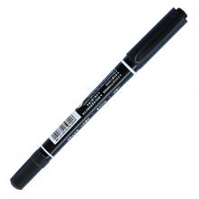 得力 6824 小双头记号笔 1.0-0.5mm 12支/盒 (单位:支) 黑